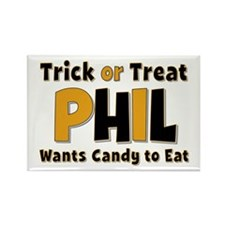 Phil Trick or Treat Rectangle Magnet