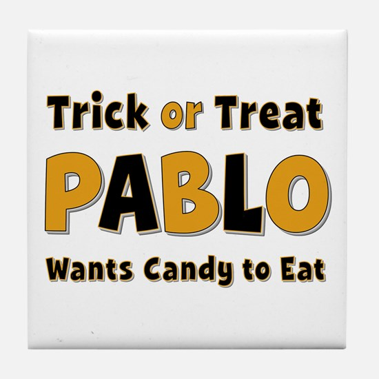 Pablo Trick or Treat Tile Coaster