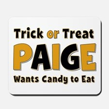 Paige Trick or Treat Mousepad