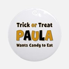 Paula Trick or Treat Round Ornament