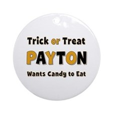 Payton Trick or Treat Round Ornament