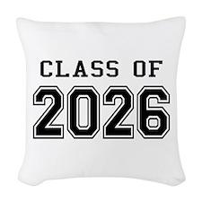 Class of 2026 Woven Throw Pillow