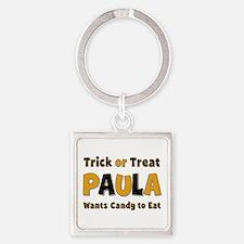 Paula Trick or Treat Square Keychain
