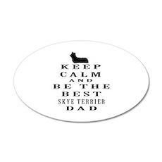 Skye Terrier Dad Designs Wall Decal