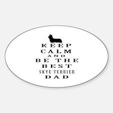 Skye Terrier Dad Designs Decal
