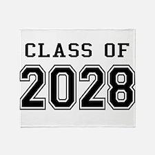 Class of 2028 Throw Blanket