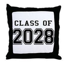 Class of 2028 Throw Pillow