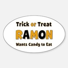 Ramon Trick or Treat Oval Decal