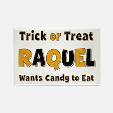Raquel Trick or Treat Rectangle Magnet