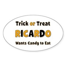 Ricardo Trick or Treat Oval Decal