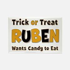 Ruben Trick or Treat Rectangle Magnet