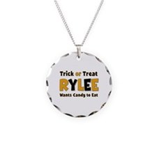 Rylee Trick or Treat Necklace Circle Charm