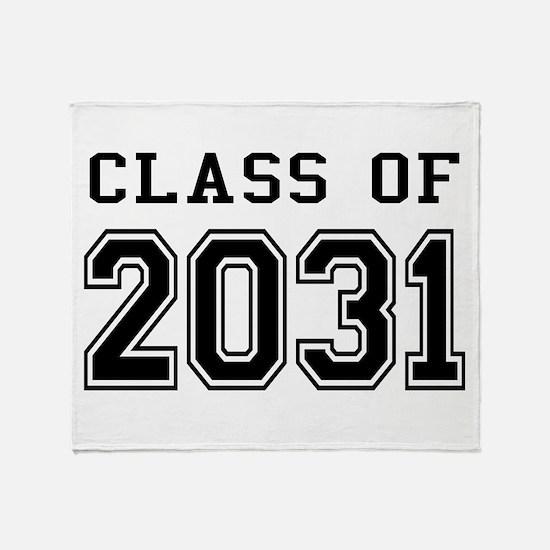 Class of 2031 Throw Blanket