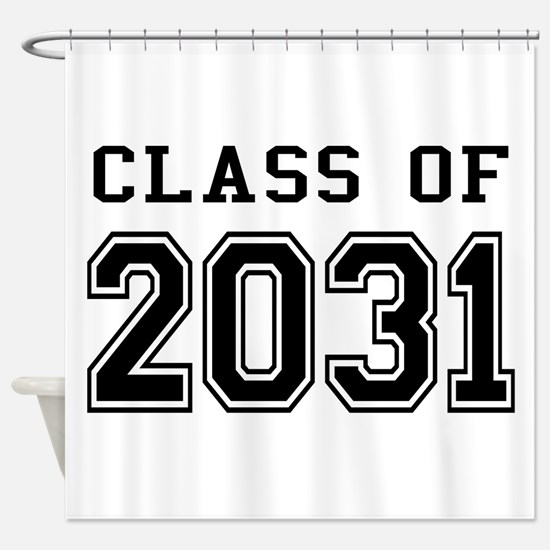Class of 2031 Shower Curtain