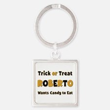 Roberto Trick or Treat Square Keychain