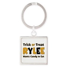 Rylee Trick or Treat Square Keychain