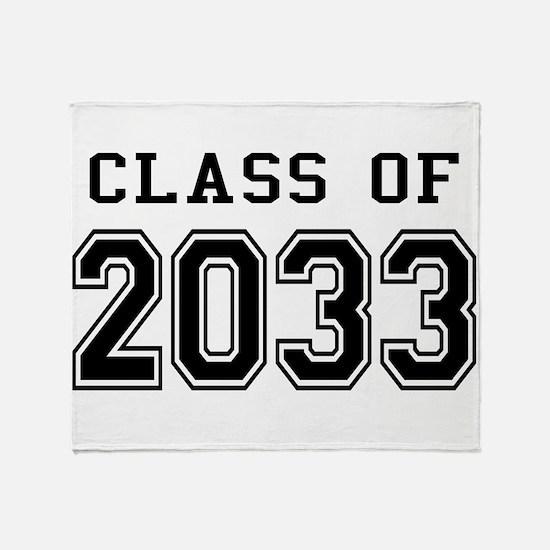 Class of 2033 Throw Blanket