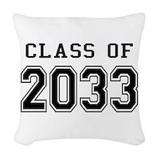 Class of 2033 Woven Throw Pillow