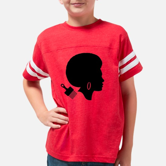 WOMAN WITH AFRO Custom Jr. Je Youth Football Shirt