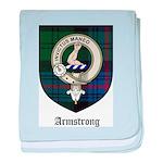 Armstrong Clan Crest Tartan baby blanket
