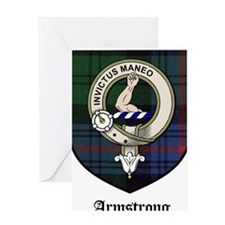 Armstrong Clan Crest Tartan Greeting Card