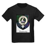 Armstrong Clan Crest Tartan Kids Dark T-Shirt