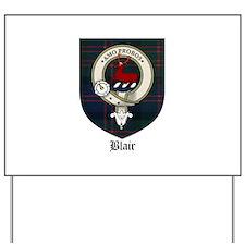 Blair Clan Crest Tartan Yard Sign