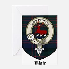 Blair Clan Crest Tartan Greeting Card