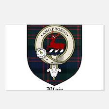 Blair Clan Crest Tartan Postcards (Package of 8)