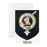 Blyth Clan Badge Tartan Greeting Cards (Pk of 10)