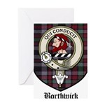 Borthwick Clan Crest Tartan Greeting Card