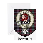 Borthwick Clan Crest Tartan Greeting Cards (Pk of