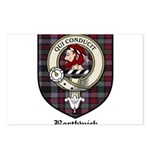 Borthwick Clan Crest Tartan Postcards (Package of