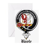 Boyle Clan Badge Crest Greeting Cards (Pk of 20)