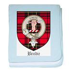 Brodie Clan Crest Tartan baby blanket