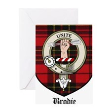 Brodie Clan Crest Tartan Greeting Card