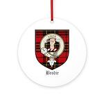 Brodie Clan Crest Tartan Ornament (Round)