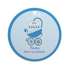 Baby Boy's 1st Christmas Personalized Ornament