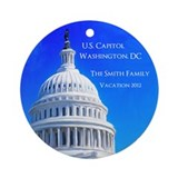 Washington dc Round Ornaments