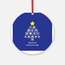 Personalized Snowflake Christmas Tree