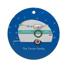 Personalized Retro Christmas Trailer Ornament
