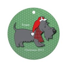 Scottish Terrier Personalized Christmas Ornament