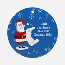 Personalized Santa's Good List Ornament