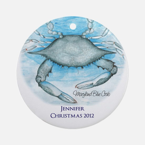 Personalized Maryland Blue Crab Ornament