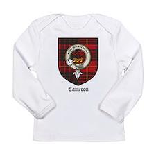 Cameron Clan Crest Tartan Long Sleeve Infant T-Shi