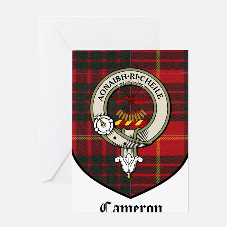 Cameron Clan Crest Tartan Greeting Card