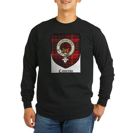 Cameron Clan Crest Tartan Long Sleeve Dark T-Shirt