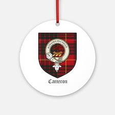 Cameron Clan Crest Tartan Ornament (Round)