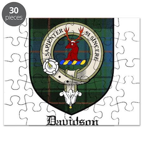 Davidson Clan Crest Tartan Puzzle