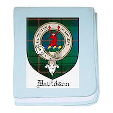 Davidson Clan Crest Tartan baby blanket